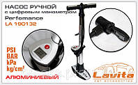 Насос ручной с цифровым манометром Perfomance Lavita LA 190132