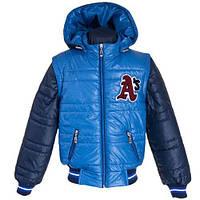 Модная и практичная Демисезонная куртка-трансформер для мальчиков 128-152р