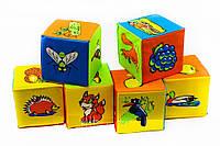Набор мягких кубиков Животные! Мягкие кубики!