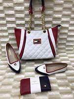 Набор: сумка, кошелек, обувь, палантин HF