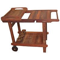 Сервировочный столик из дерева мербау Виенна