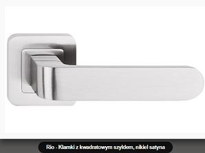 Дверная ручка  Metal-bud Rio никель-сатин