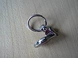 Брелок подарочный металлический Fiat логотип эмблема Фиат автомобильный на авто ключи красный круглый, фото 3