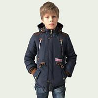 Практичная Удлиненная Демисезонная куртка для мальчиков 128-152р