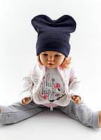 Трикотажная шапка двойная детская 52-56р оптом
