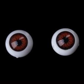 """Глазки для кукол круглые """"живые"""", 12 мм, коричневые"""