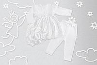 """Нарядный комплект с платьем на крещение или выписку """"Белоснежка"""" с шапочкой (Little Angel)"""