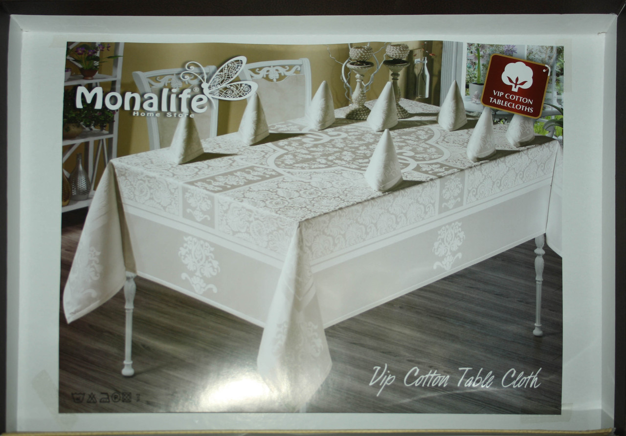 """Комплект столового белья на 12 персон """"Monalife"""" VIP cotton 160*300"""