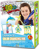 Набор для детского творчества с 3D-маркером - Меняющий цвет, 3D-маркер-2 штуки, аксессуары