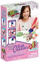 Набор для детского творчества с 3D-маркером - Лесные друзья, 3D-маркер с блестками-3 штуки, аксессуары