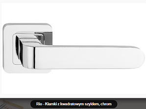 Дверная ручка  Metal-bud Rio хром