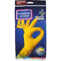 Перчатки латексные Добрая Хозяюшка стандарт L