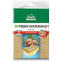 Губки кухонные Domi Натуральная фибра 2 шт