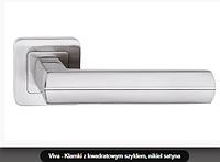 Дверная ручка  Metal-bud Viva никель сатин