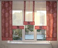Комплект панельных шторок розы розовые, 2м, фото 1