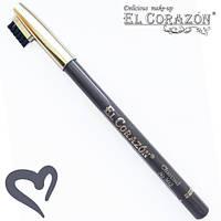 """El Corazon водостойкий карандаш для бровей """"Charcoal"""" (Серый) № 302"""