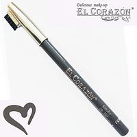 """El Corazon карандаш для бровей """"Smoke""""(Серый-Натуральный) № 303"""