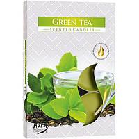 Набор арома-свечей Bispol p15-83 зеленый чай 6 шт
