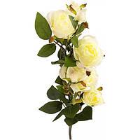 Искусственное растение Роза белая 73 см