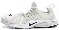 Мужские кроссовки Nike Air Presto Breeze White (Найк Аир Престо) белые