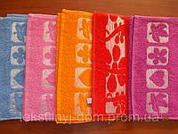 Махровые жаккардовые полотенца 30*50 12шт оптом