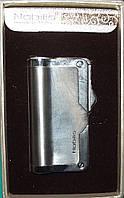 Подарочная зажигалка NOBILIS со встроенным футляром для мундштука. Пламя: острое.