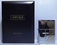 Подарочная зажигалка SPUNK в деревянной упаковке.  Пламя: турбо