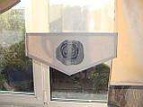 Комплект панельних шторок троянди сірі, 2м, фото 3