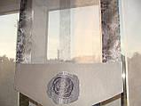 Комплект панельних шторок троянди сірі, 2м, фото 4