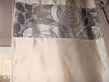 Комплект панельних шторок троянди сірі, 2м, фото 5