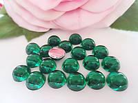 """Клеевой декор """"Капелька росы"""", d 8 мм, цвет зеленый, 25 шт"""