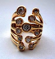 """Женское кольцо """"Пальчики"""" с полозолотой"""