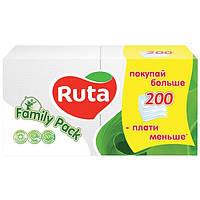 Салфетки Ruta FamilyPack белые 200 шт