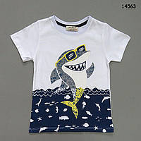 "Футболка ""Акула"" для мальчика.     5-6 лет, фото 1"