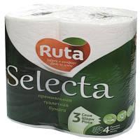 Бумага туалетная Ruta Selecta белая 4 шт
