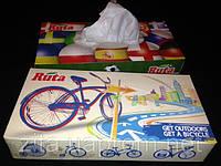 Салфетки в боксах 80 листов целлюлоза с логотипом велосипед
