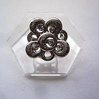Стильное Кольцо с серебрянным покрытием