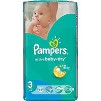Подгузники Pampers Active Baby-Dry Midi 4-9 кг 58 шт