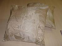 Комплект подушек бежевые с завитками,  2 шт 40*40см, фото 1