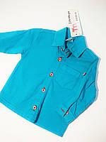 Рубашка бирюзовая на мальчика детская