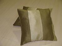 Комплект подушек золотистые с оливкой, 2 шт