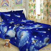 Комплект детского постельноего белья  КОСМОС, ткань поплин