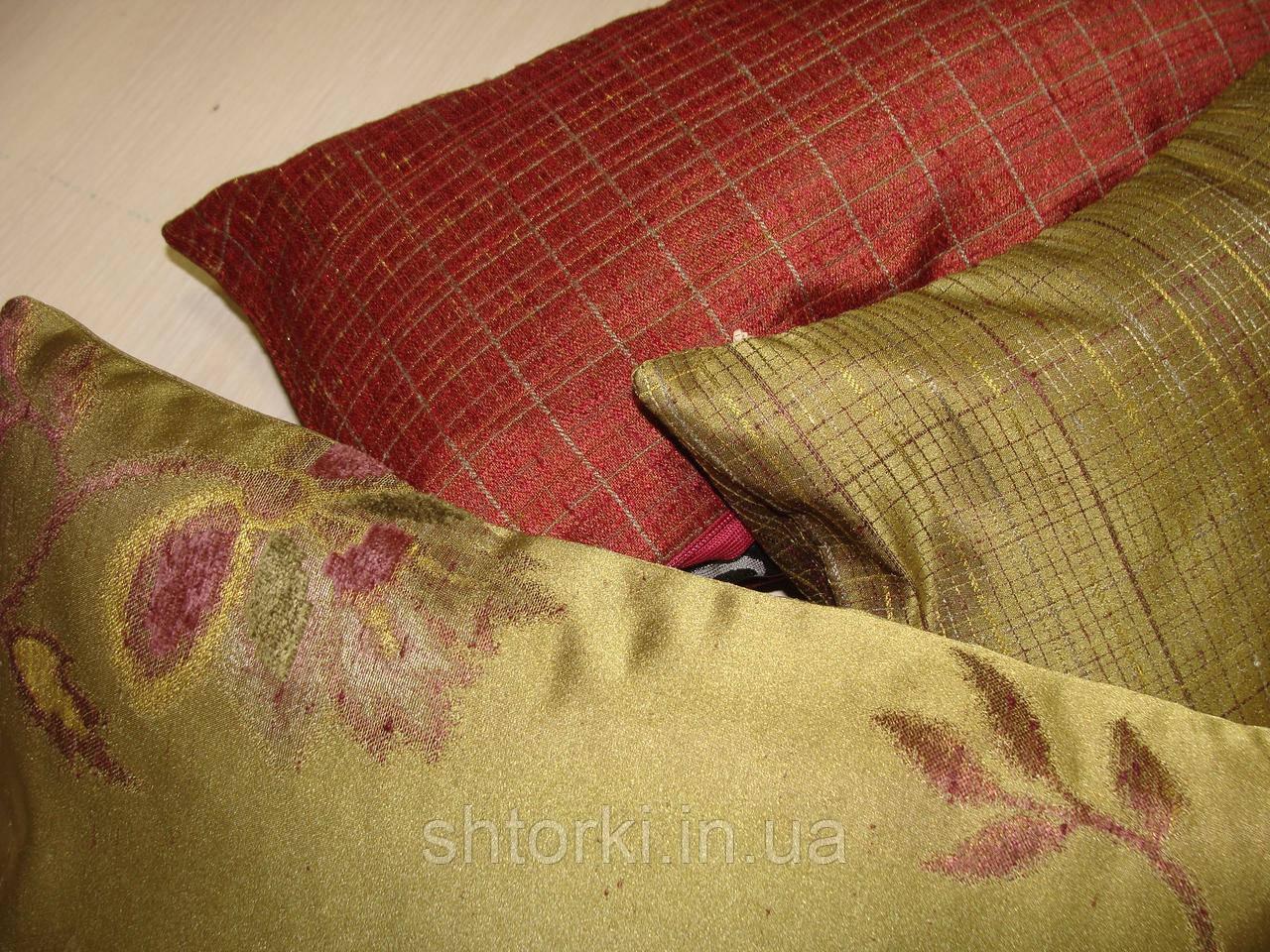 Комплект подушек зелень, 3 шт
