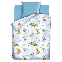 Комплект детского постельного белья РЫЦАРЬ И ДРАКОН, ткань  поплин