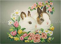 Схема для вышивки бисером Кролики (А3)