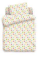 Комплект детского постельного белья Цветной горошек, ткань  поплин