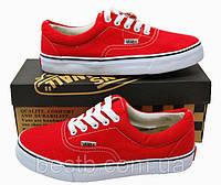 Женские летние кеды Vans Era (красные)