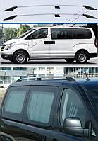 Рейлинги Hyundai H1 2008- Хром Can Koruma (Крепление на клей, чугунные ножки)