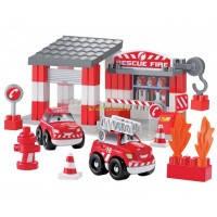 Конструктор Скоростное авто. Пожарное депо, Ecoiffier (3080)