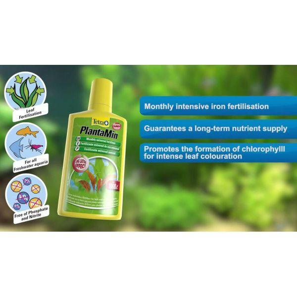 Tetra Tetra PLANTAMIN интенсивное удобрение для аквариумных растений, Упаковка (мл) 5л на 20000л